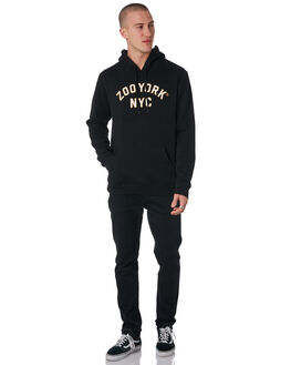 BLACK MENS CLOTHING ZOO YORK JUMPERS - ZY-MFC8173BLK