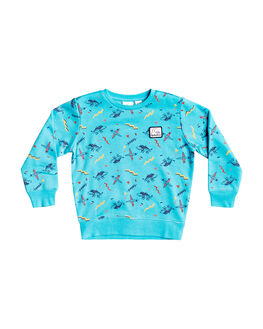 PACIFIC BLUE KIDS BOYS QUIKSILVER JUMPERS + JACKETS - EQKFT03325-BGZ6