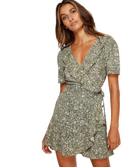 OLIVE WOMENS CLOTHING BILLABONG DRESSES - BB-6591489-OLV