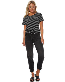 AGED BLACK WOMENS CLOTHING ASSEMBLY JEANS - ASW-W1677AGEDB