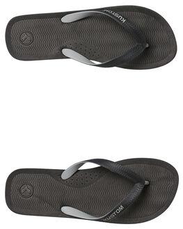 BLACK GREY MENS FOOTWEAR KUSTOM THONGS - 4984209BGRY