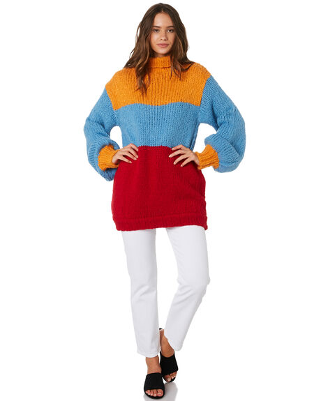 YELLOW BLUE RED OUTLET WOMENS MLM LABEL KNITS + CARDIGANS - MLM537BMUL