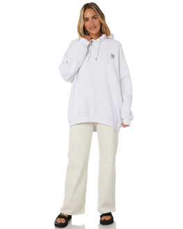 WHITE WOMENS CLOTHING STUSSY JUMPERS - ST106312WHT
