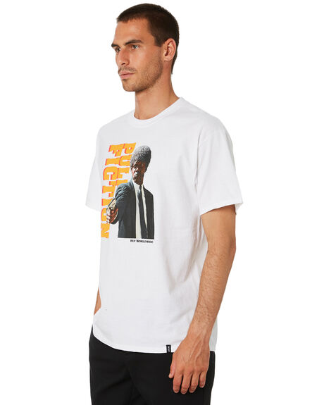 WHITE MENS CLOTHING HUF TEES - TS01314-WHT
