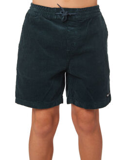 NAVY GREEN KIDS BOYS VOLCOM SHORTS - C1031801NVG