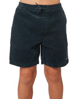 NAVY GREEN KIDS BOYS VOLCOM SHORTS - C1031801NVG