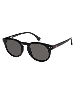 SHINY BLACK/GREY KIDS BOYS QUIKSILVER SUNGLASSES - EQBEY03007-XKKS