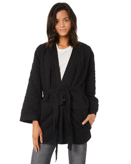 BLACK WOMENS CLOTHING HURLEY JACKETS - AJ3611010