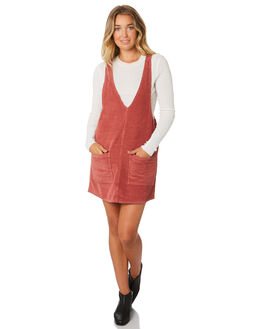 WASHED RED WOMENS CLOTHING RUSTY PLAYSUITS + OVERALLS - DRL0894WIR