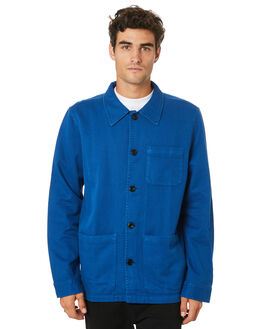 BLUE MENS CLOTHING NUDIE JEANS CO JACKETS - 160676B20