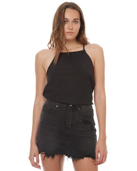 BLACK WOMENS CLOTHING ELWOOD FASHION TOPS - W73312BLK