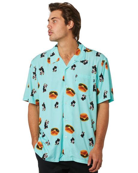 MINT MENS CLOTHING HUF SHIRTS - BU00061-MINT