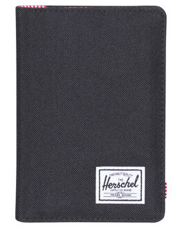 BLACK MENS ACCESSORIES HERSCHEL SUPPLY CO WALLETS - 10373-00001-OSBLK