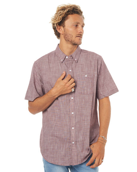 BURGUNDY MENS CLOTHING EZEKIEL SHIRTS - ES173031BURG