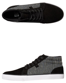 BLACK ARMOR WHITE MENS FOOTWEAR DC SHOES SNEAKERS - ADYS300076BMW