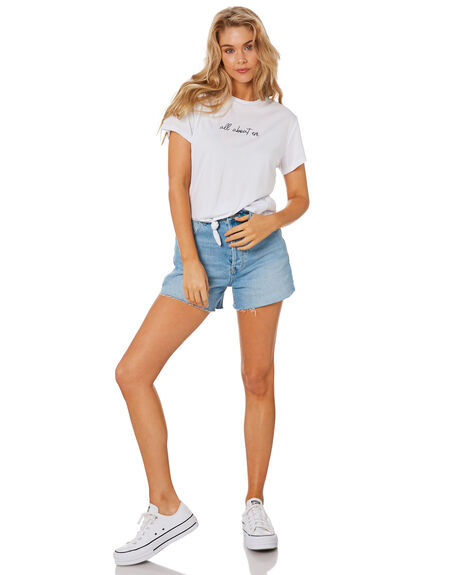 WHITE WOMENS CLOTHING ALL ABOUT EVE TEES - 6473001WHT