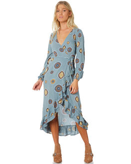 BLUE WOMENS CLOTHING TIGERLILY DRESSES - T383446BLUE