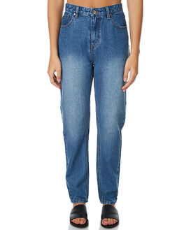 MID BLUE WOMENS CLOTHING MINKPINK JEANS - MD1609937BLU