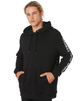 BLACK WHITE MENS CLOTHING HERSCHEL SUPPLY CO JUMPERS - 50033-00258BLKWH