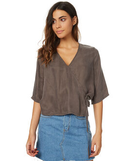 OLIVE WOMENS CLOTHING THE HIDDEN WAY FASHION TOPS - H8172441OLV