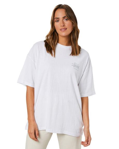 WHITE WOMENS CLOTHING STUSSY TEES - ST115013WHT