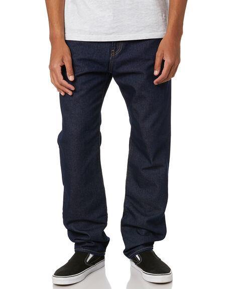 BLUE MENS CLOTHING CARHARTT JEANS - I02723101