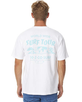 WHITE MENS CLOTHING BROTHERS MARSHALL TEES - 1060-100WHT