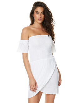 WHITE WOMENS CLOTHING RUE STIIC DRESSES - JA1735YWHT