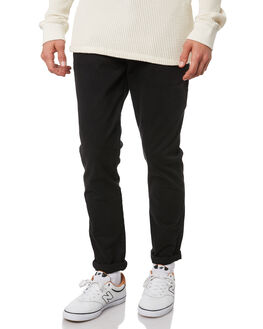 BLACK MENS CLOTHING ACADEMY BRAND PANTS - BA104BLK