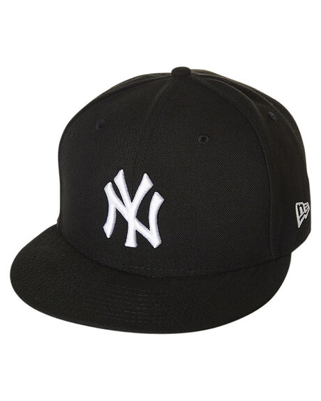 BLACK WHITE MENS ACCESSORIES NEW ERA HEADWEAR - 70092788BKWH