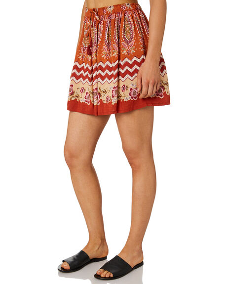 RUST WOMENS CLOTHING TIGERLILY SKIRTS - T395280RUS