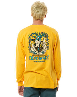 LEMON CURRY OUTLET MENS SURF IS DEAD TEES - SD17P4-02LCRY