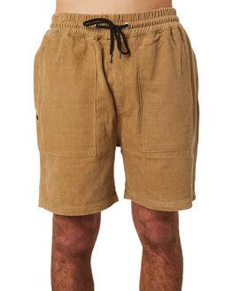 TAN CORD MENS CLOTHING RPM SHORTS - 8PMB04BTAN