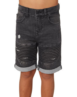 BLACK KIDS BOYS ST GOLIATH SHORTS - 2420027BLK