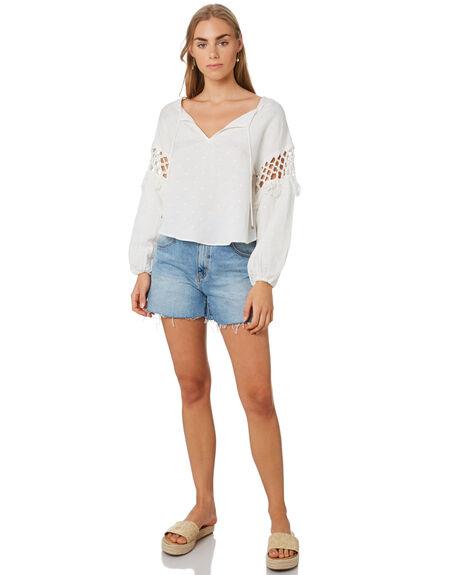 WHITE WOMENS CLOTHING TIGERLILY FASHION TOPS - T392050WHI