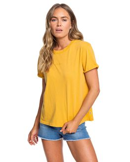 HONEY GOLD WOMENS CLOTHING ROXY TEES - ERJZT04779-YJY0
