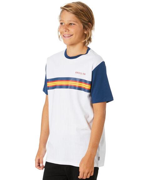 WHITE KIDS BOYS SWELL TOPS - S3204001WHITE