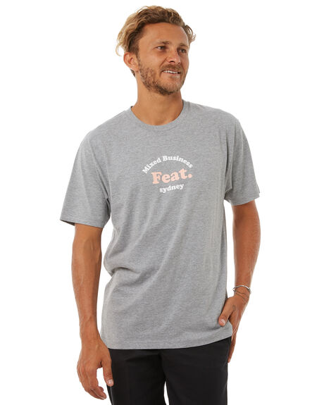 GREY MARLE OUTLET MENS FEAT TEES - FTTHAP01GRYM