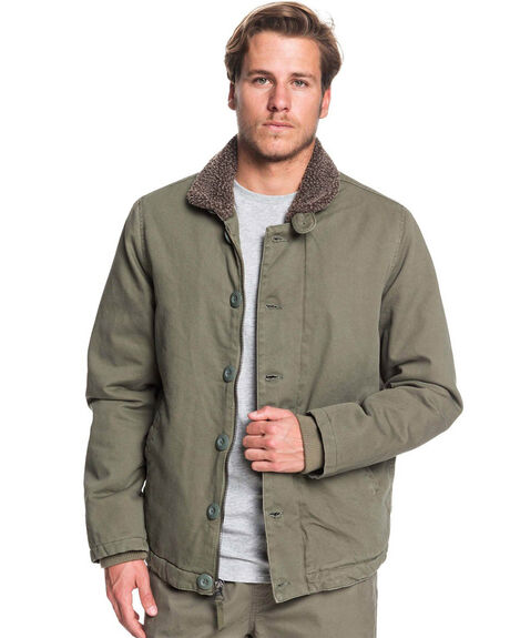 DUSTY OLIVE MENS CLOTHING QUIKSILVER JACKETS - EQMJK03031-GPB0