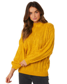YELLOW OUTLET WOMENS RUSTY KNITS + CARDIGANS - CKL0358NGG