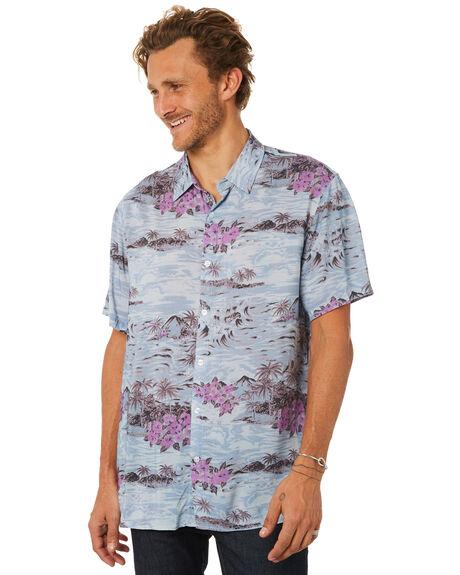 DUSTY BLUE MENS CLOTHING BILLABONG SHIRTS - 9582210DTBLU