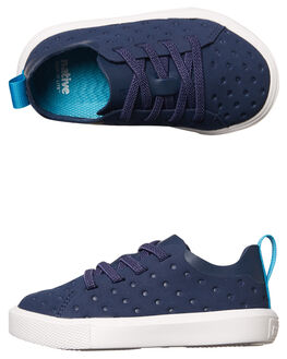 REGATTA BLUE WHITE KIDS TODDLER BOYS NATIVE FOOTWEAR - 23104214-4201