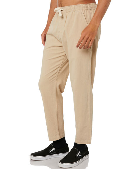HEMP KHAKI MENS CLOTHING DEPACTUS PANTS - D5211191HMPKH