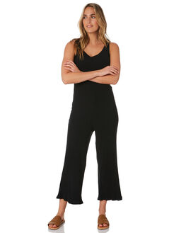 BLACK WOMENS CLOTHING VOLCOM PLAYSUITS + OVERALLS - B2812004BLK
