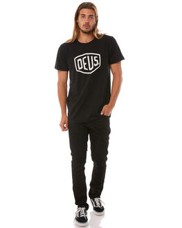 BLACK MENS CLOTHING DEUS EX MACHINA TEES - DMW41808EBLK
