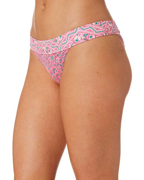 PINK WOMENS SWIMWEAR TIGERLILY BIKINI BOTTOMS - T392593PNK
