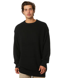 BLACK MENS CLOTHING RPM KNITS + CARDIGANS - 9WMT12ABLK
