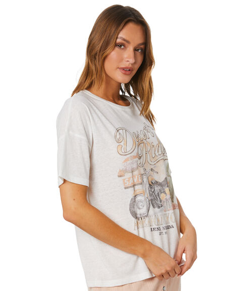 MULTI WHITE WOMENS CLOTHING MINKPINK TEES - MP2008001MWHT