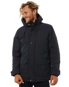 WASHED BLACK MENS CLOTHING RIP CURL JACKETS - CJKDC18264