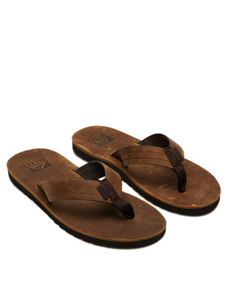 DARK BROWN MENS FOOTWEAR REEF THONGS - A2YFRDAB